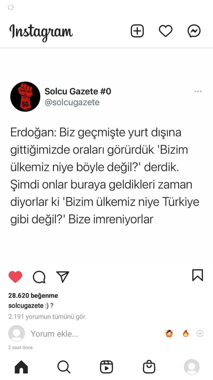 Sizce de yabancılar, R. T. Enin de dediği gibi bizim ülkemiz niye Türkiye gibi değil deyip Türkiyeye imreniyorlar mıdır?