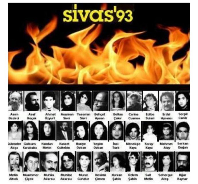 Bugün Sivas katliamının 28. yıl dönümü. Zaman aşımına uğrayıp davası düşen bu katliamı unutmak mümkün müdür?