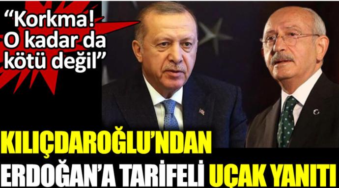 Kılıçdaroğlu Uçakları satacakmış , Dünyayı tarifeli uçakla mı dolaşacaksindiyen Erdoğana cevap verdi. Ne düşünüyorsunuz?