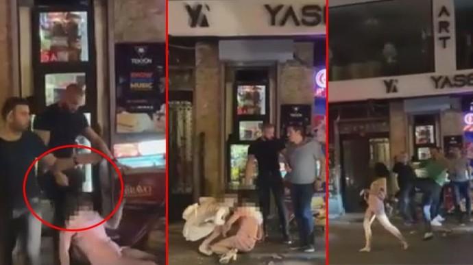 İstanbulun göbeğinde kadını şiddet! Saçlarından sürükleyip, dövdüler, hiç bir işlem yapılmadan serbest kaldılar. Adalet bu mu?
