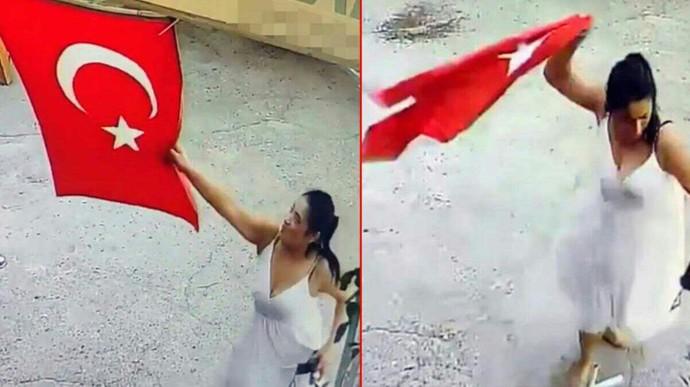 İş yerine asılı Türk bayrağını koparıp çöpe atan kadın hakkında ne düşünüyorsunuz?