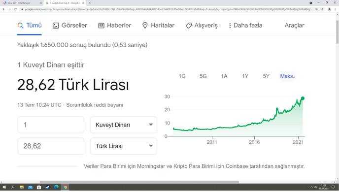 1 kuveyt dinarı türkiye deger mi sizce?