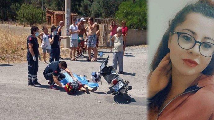 Motosiklet sürerken Öldürülen Kadın?