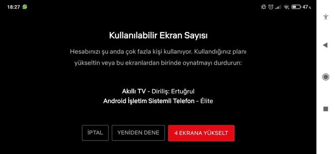 Netflix ten anlayan  var mı?