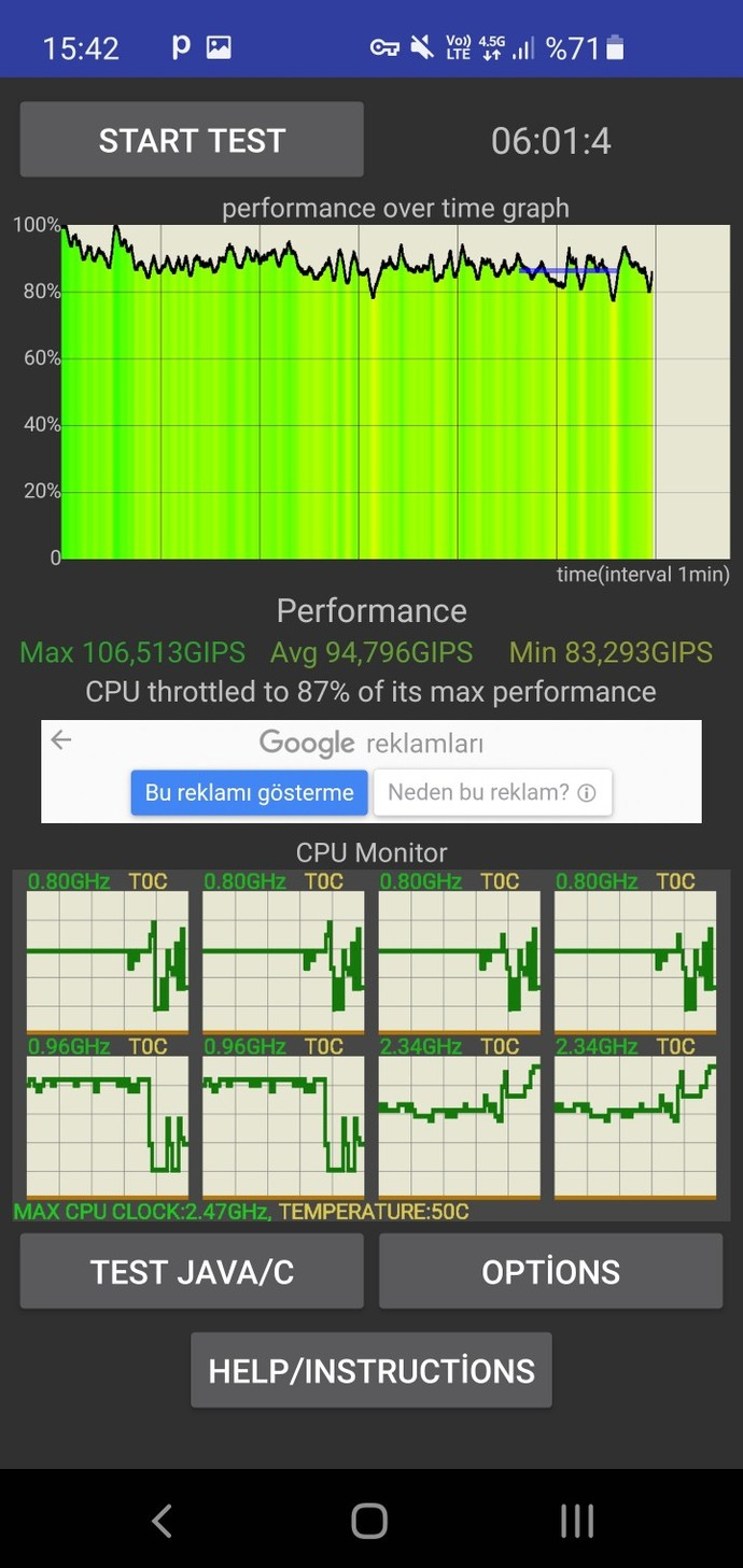 Kendi Telefonum Olan Samsung Galaxy S10 Cpu Throttling Grafik Performans Test Yaptım Cihazın Performans Nasıl Exynos bu arada?