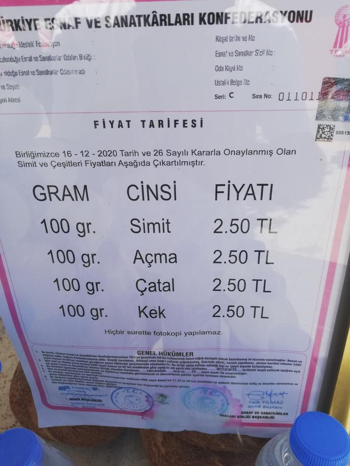 Simit İstanbula 2.5 TL oldu. Ekonomi nasil?