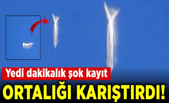 Şekil değiştiren UFO görüldü! Sizce bu nedir?