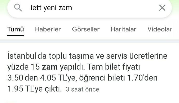 İstanbul toplu taşıma ücretleri hayırlı olsun mu?