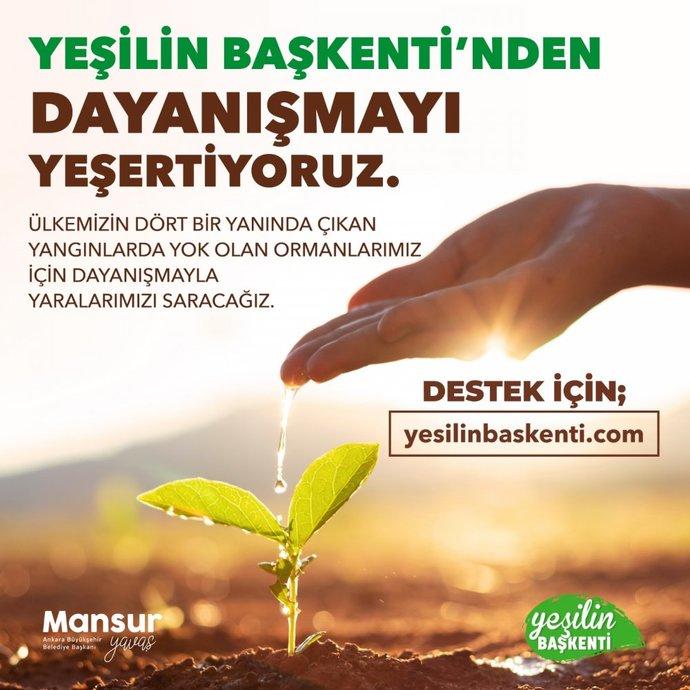 Ankara  Belediyesinin Türkiyeye Nefes Ol kampanyası 1 saatte 200 bin TLyi aştı. Bağışlarınızı nereye yapacaksınız?