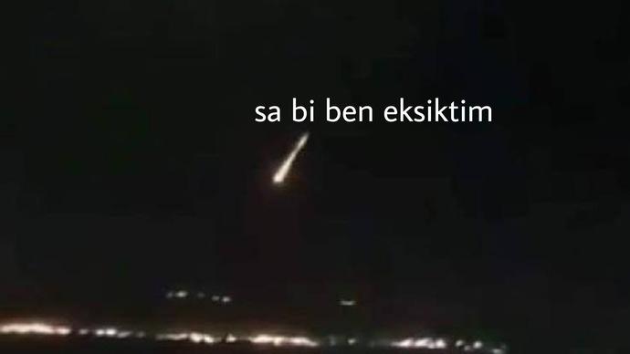 Sonunda bu da oldu: İzmire meteor düştü. Ne düşünüyorsunuz?
