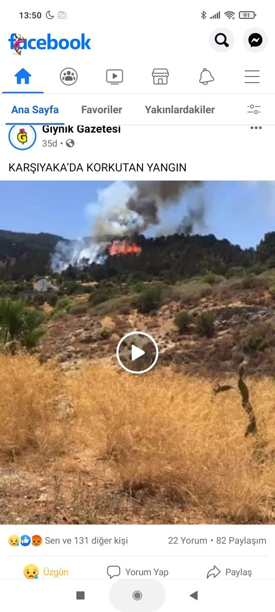 Kıbrısta da yangın başladı 😢😢 Sıcaklıkla mı alakalı?