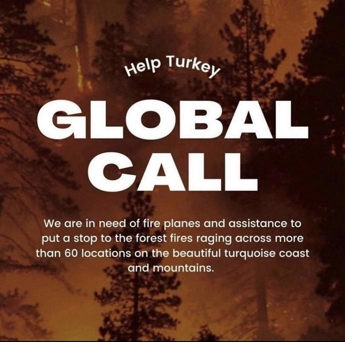 Ülkemizde çıkan yangınlar için #helpturkey etiketiyle bir yardım kampanyası başlatıldı. Bu kampanyaya siz de katılır mısınız?