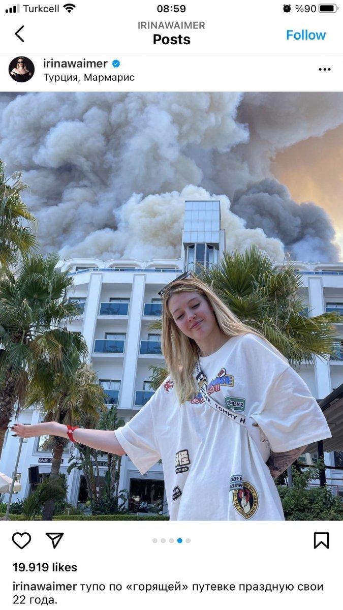 Rus şarkıcı, Antalyada tatil yaparken yangını alaya alan paylaşım yaptı, bu alaycı tavır hakkında ne düşünüyorsunuz?