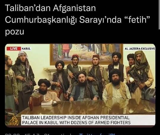 Evet hayırlı uğurlu olsun taliban Afganistanı ele geçirdi?