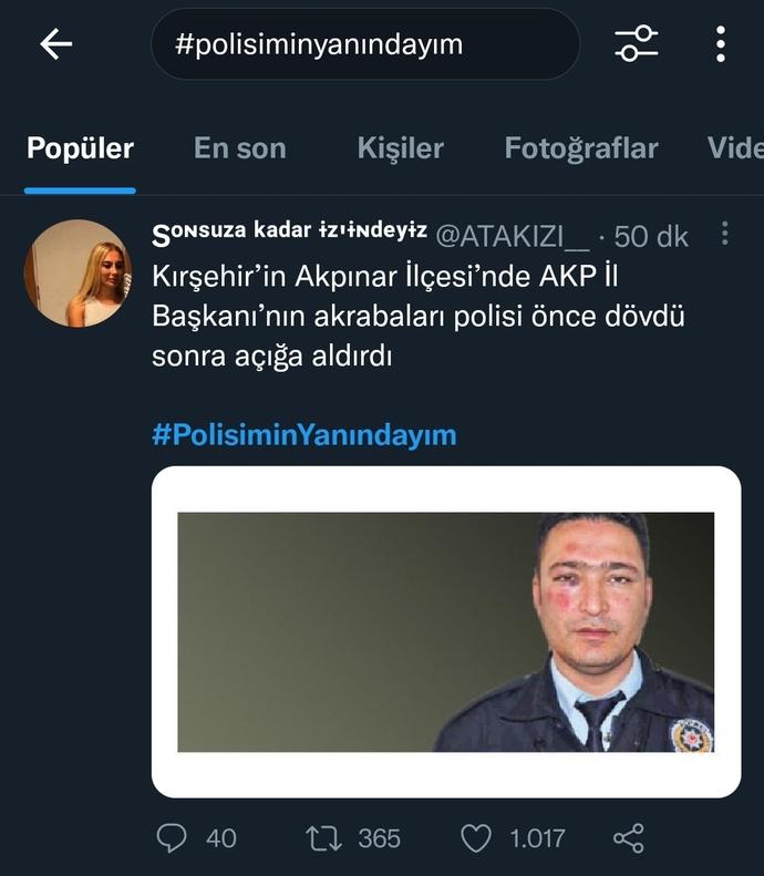 AKP il başkanının akrabaları polisi dövdü ve açığa aldırdı bu konuda ne diyeceksiniz?