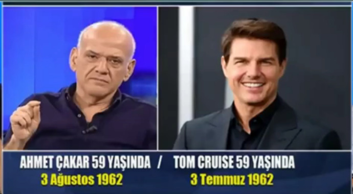 Gündemi karıştıran tartışma! Sizce Ahmet Çakar mı yoksa Tom Cruise mi?