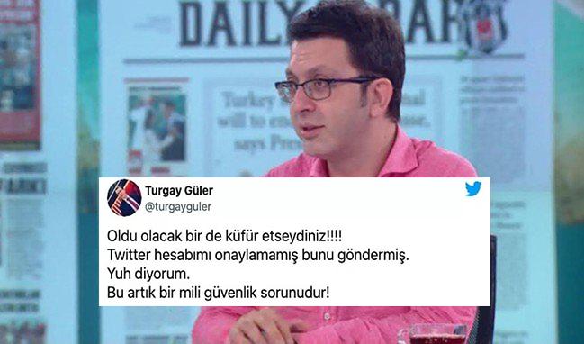 Twitterdan Mavi Tık Alamayan Turgay Güler: Bu Bir Milli Güvenlik Sorunu dedi. Sizin bir Milli Güvenlik sorununuz var mı?
