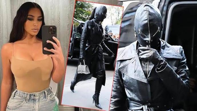 """Kim Kardashian'dan """"eski sevgilimi görünce ben"""" kombini! Siz de böyle giyinmek ister misiniz?"""