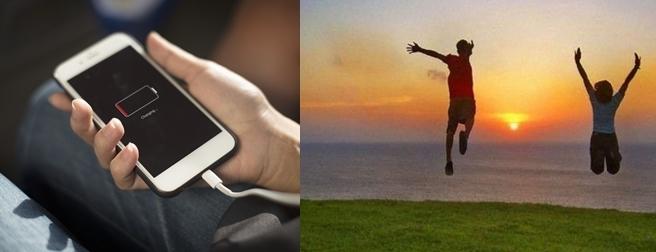 Şu an da telefon şarjınız mı daha yüksek, yaşama sevinciniz mi?
