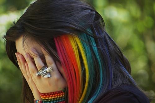 Saçlarınızı gökkuşağı renklerine boyatır mısınız?