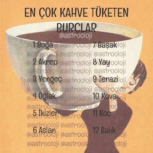 Burcuna göre ne kadar kahve tüketiyorsun?