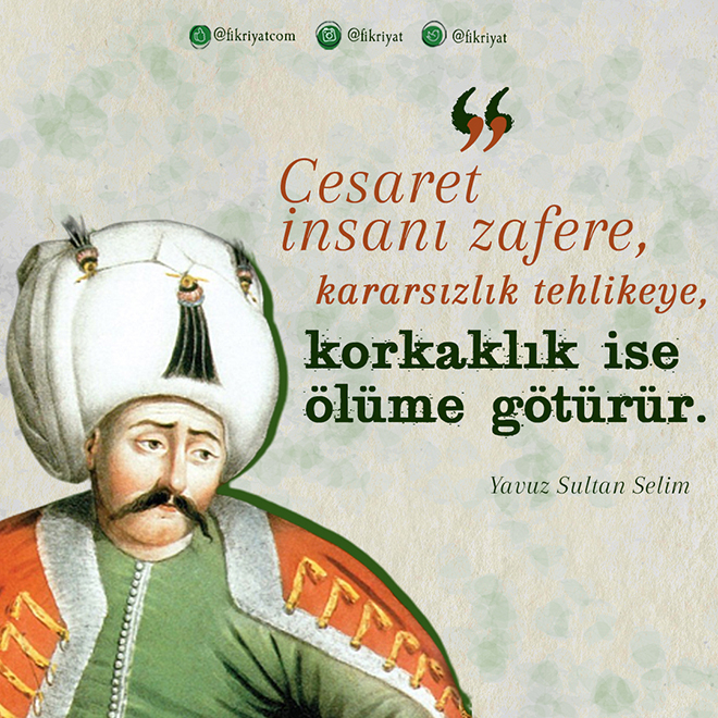 501 yıl önce bugün Yavuz Sultan Selim vefat etti! Sizce en iyi yükseliş dönemi padişahı kimdir?