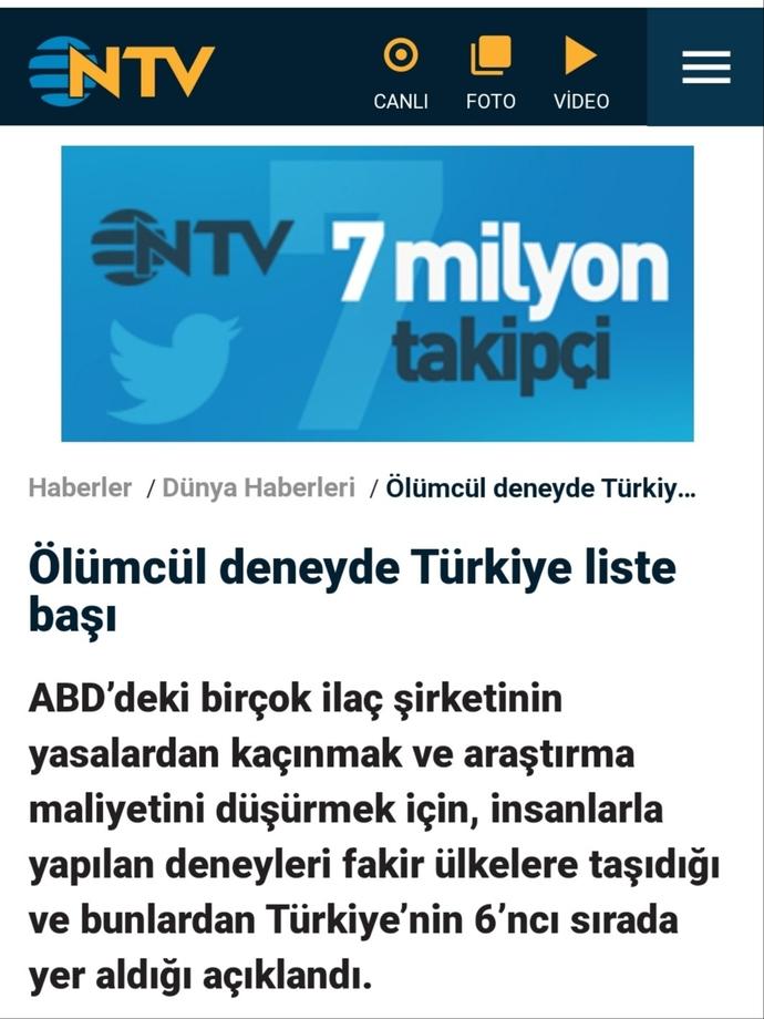 Türkiye dünya geneli ilaç firmalarının deney ülkesi haline mi geldi?