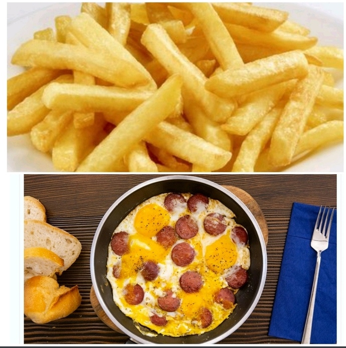 Patates kızartması & Sucuklu Yumurta