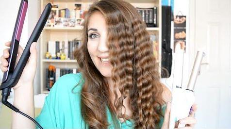 Saç düzleştirici ile bukle yapma