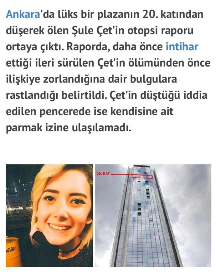 Ankara'da lüks Plaza'nın 20. katından düşen kızın otopsi sonucu düşmeyip tecavüz edilip atıldığı çıktı, bu kızın ailesi neredeydi?