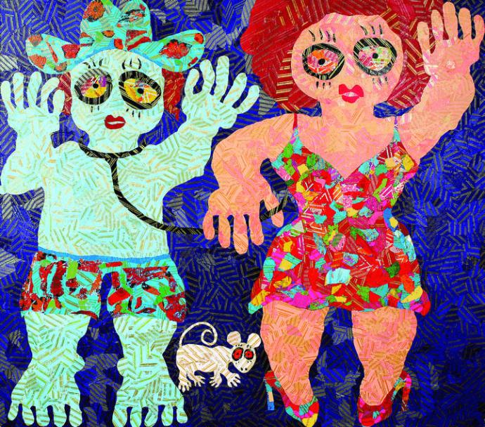 Ressam Ayşegül Sağbaş - Figüratif kompozisyon